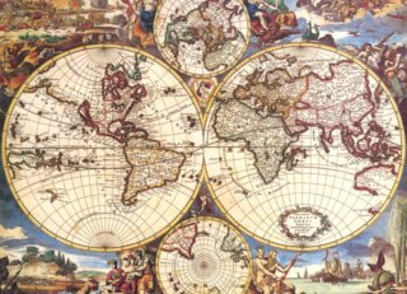 EDITIONS RICORDI Puzzle Mapa světa 1500 dílků