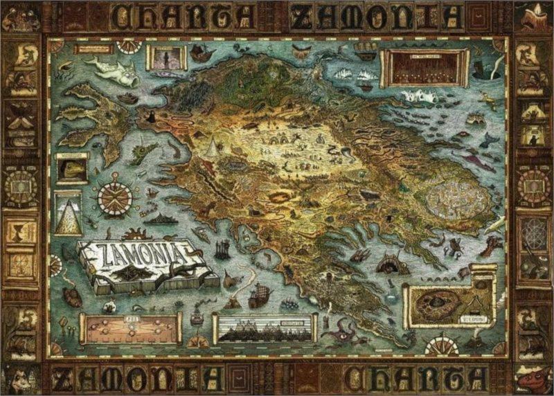 HEYE Puzzle Mapa Zamonie 2000 dílků