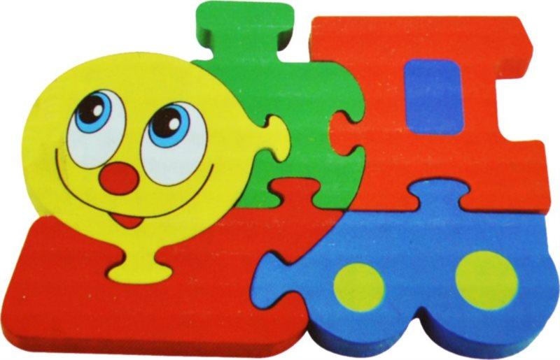 Dřevěné puzzle pro nejmenší, Mašinka 2