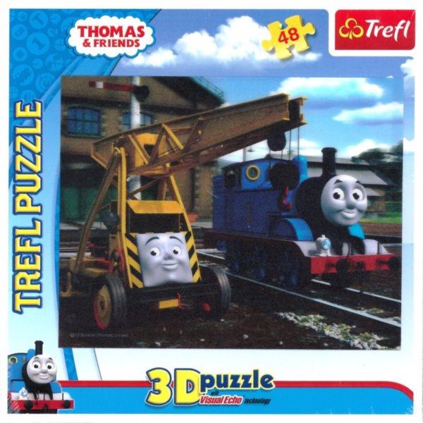 3D puzzle pro děti TREFL 48 dílků - Mašinka Tomáš 3D