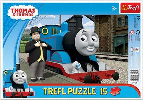 Deskové puzzle pro děti 15 dílků - Mašinka Tomáš