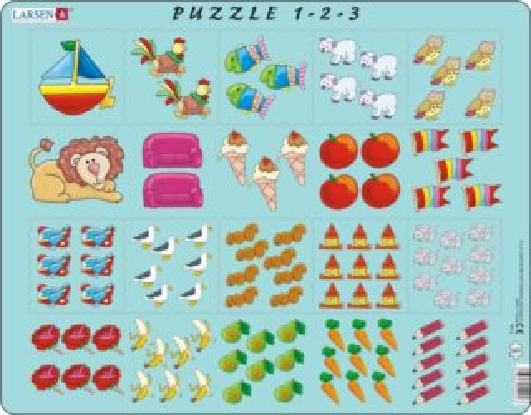 LARSEN Puzzle Obrázkové počítání 10 dílků