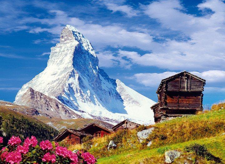 Puzzle CLEMENTONI 1500 dílků - Matterhorn, Alpy