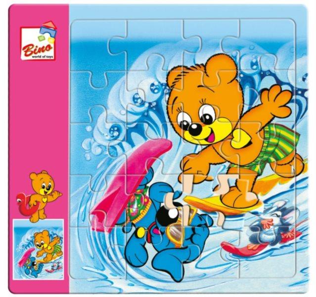 Puzzle pro děti BINO 13411 Méďa Pusík, 20 dílků