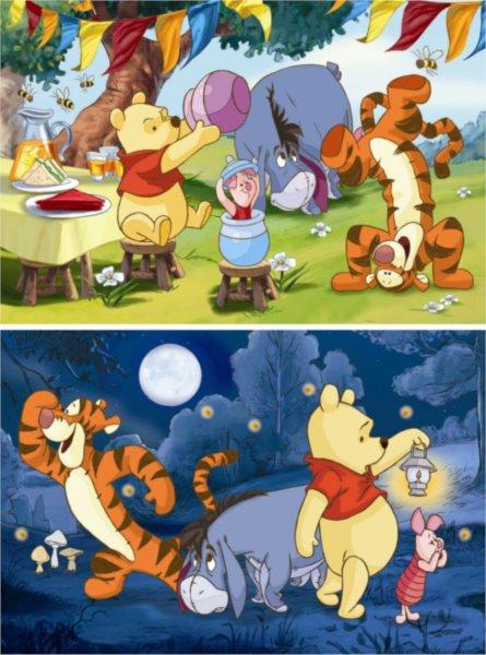 Dětské puzzle DINO 2x 66 dílků - Medvídek Pú 2v1