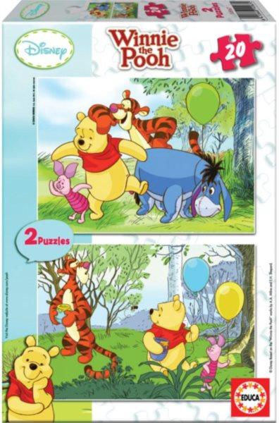 EDUCA Puzzle Medvídek Pú 2x20 dílků