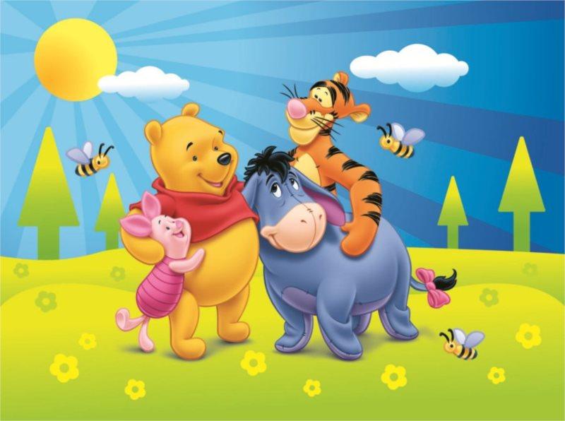 Dětské puzzle DINO 24 dílků - Medvídek Pú a jaro