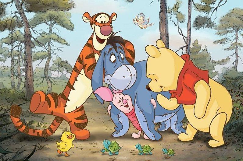 TREFL Puzzle Medvídek Pú a přátelé MAXI 24 dílků