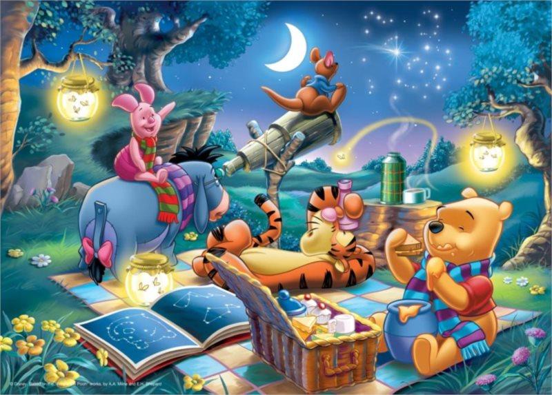RAVENSBURGER Puzzle Medvídek Pú: Astronom 1000 dílků