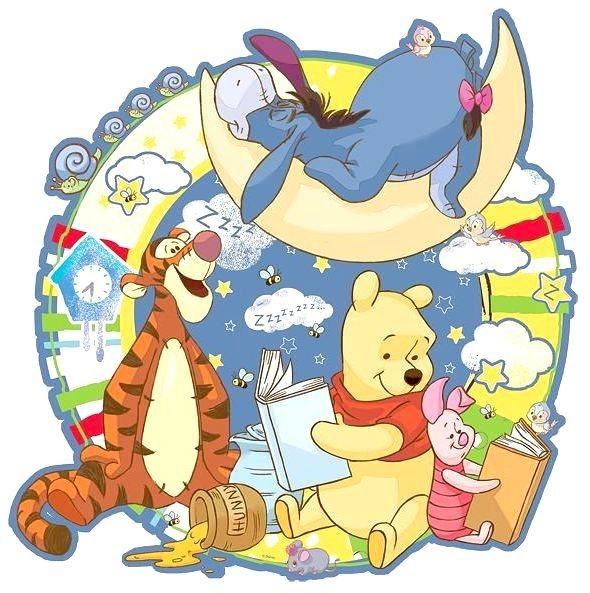TREFL Obrysové puzzle Medvídek Pú: Čtení na dobrou noc 100 dílků