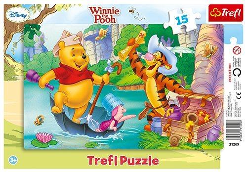 TREFL Puzzle Medvídek Pú: Hledání pokladu 15 dílků