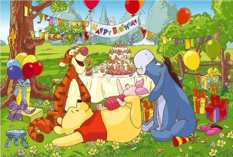 TREFL Puzzle Medvídek Pú: Narozeninová oslava MAXI 24 dílků