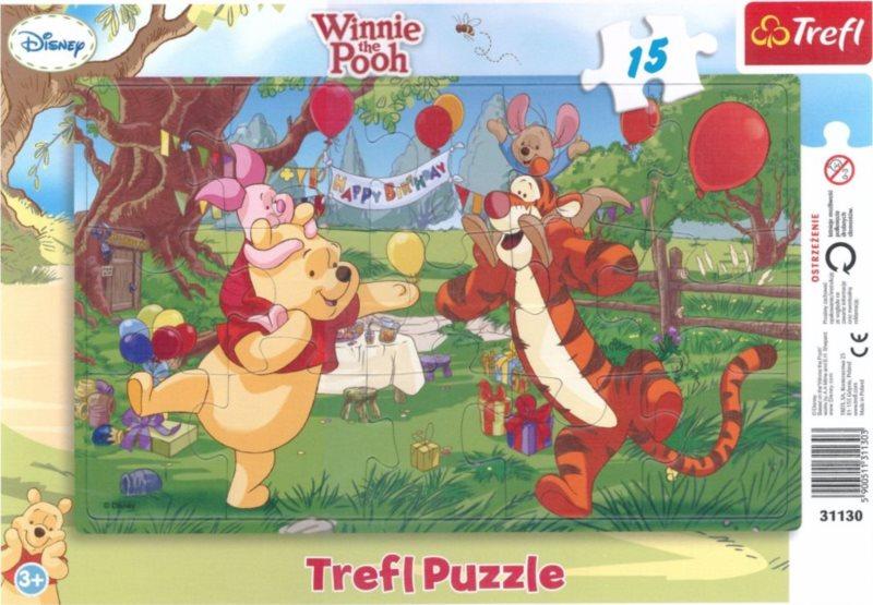 TREFL Puzzle Medvídek Pú: Oslava 15 dílků