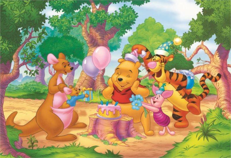 Dětské puzzle DINO 99 dílků - Medvídek Pú: Narozeniny