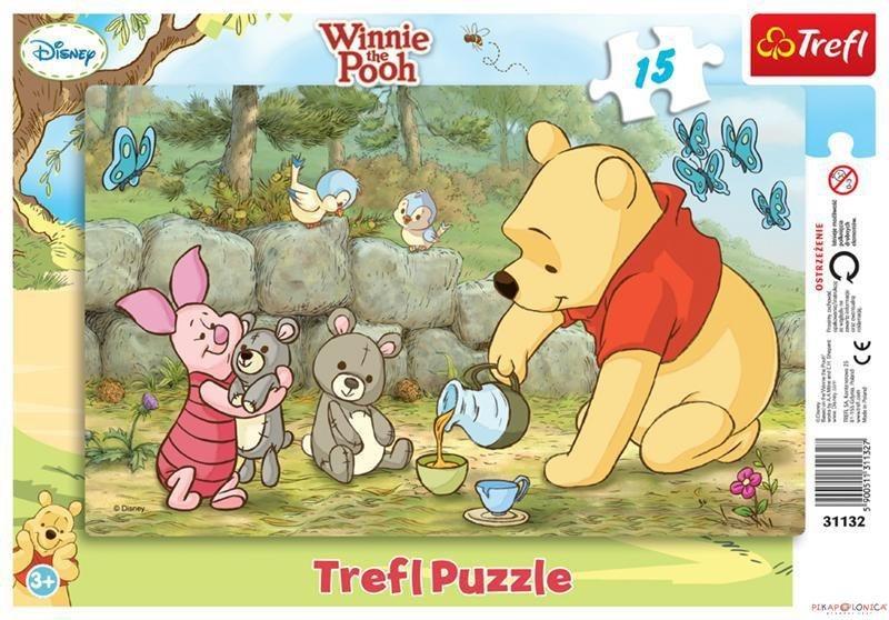 TREFL Puzzle Medvídek Pú: Kamarádi 15 dílků