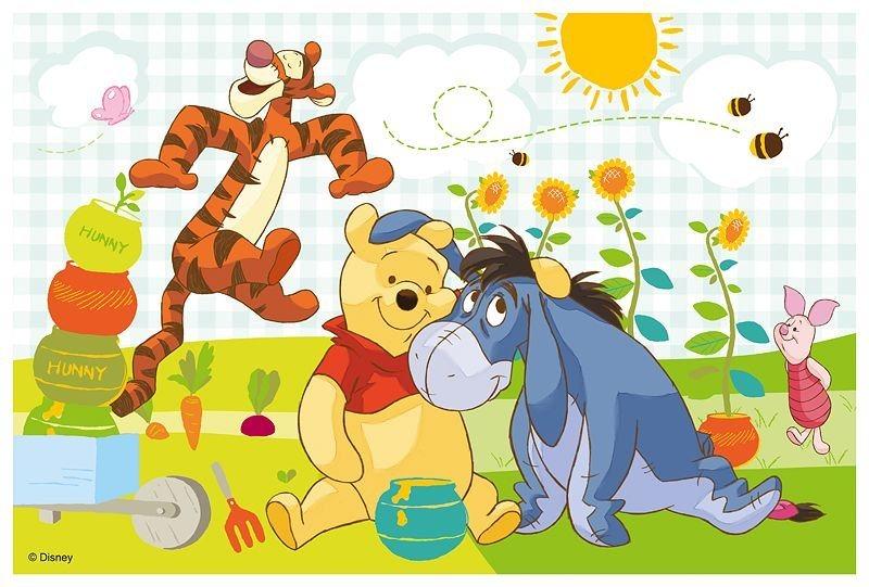 TREFL Puzzle Medvídek Pú: Přátelé 60 dílků