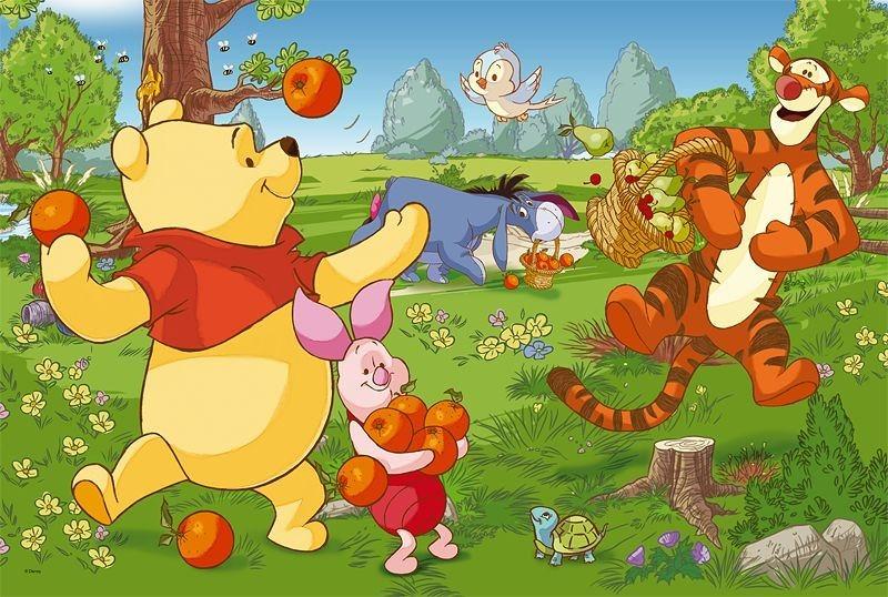 TREFL Puzzle Medvídek Pú: Sklizeň ovoce MAXI 24 dílků