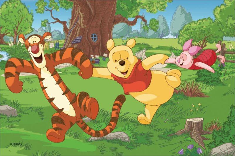 TREFL Puzzle Medvídek Pú: Tanec na louce 60 dílků