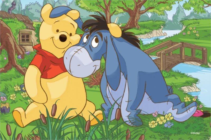 TREFL Puzzle Medvídek Pú: Velké přátelství 54 dílků