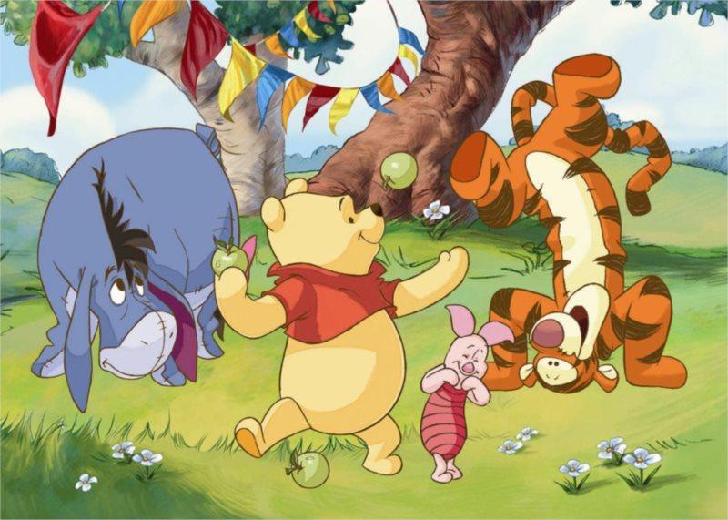 DINO Puzzle Medvídek Pú: Zábava s přáteli MAXI 24 dílků