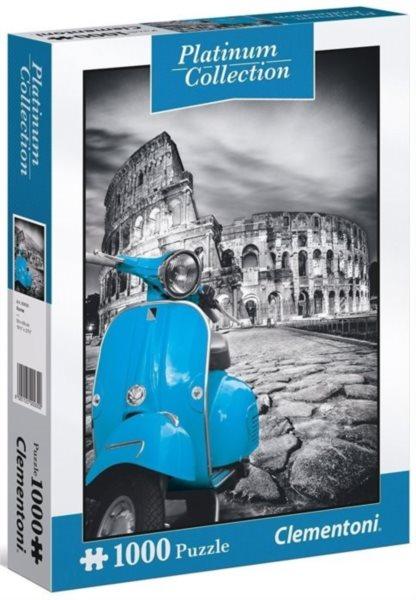 CLEMENTONI Metalické puzzle Koloseum, Řím 1000 dílků
