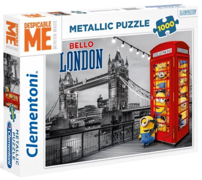CLEMENTONI Metalické puzzle Mimoni v Londýně 1000 dílků