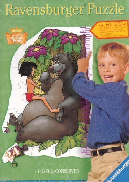 RAVENSBURGER poškozený obal: Metr Mauglí, kniha džunglí 24 dílků