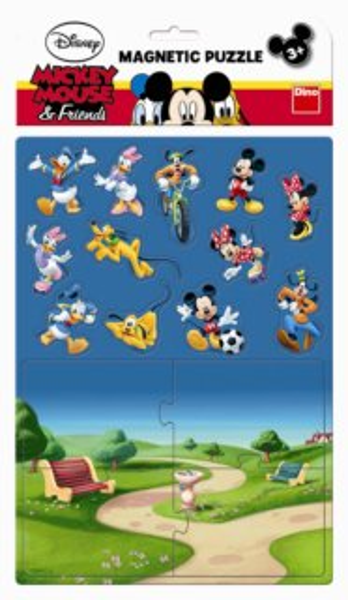 Dětské magnetické puzzle DINO 16 dílků - Mickey Mouse a přátelé