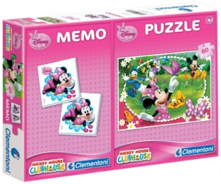 CLEMENTONI Puzzle Minnie 60 dílků + pexeso