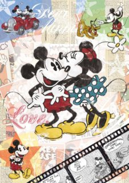 Puzzle RAVENSBURGER 500 dílků - Mickey Mouse Retro