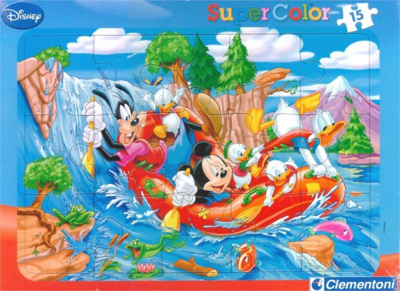 CLEMENTONI Puzzle Mickey Mouse: Divoká řeka 15 dílků