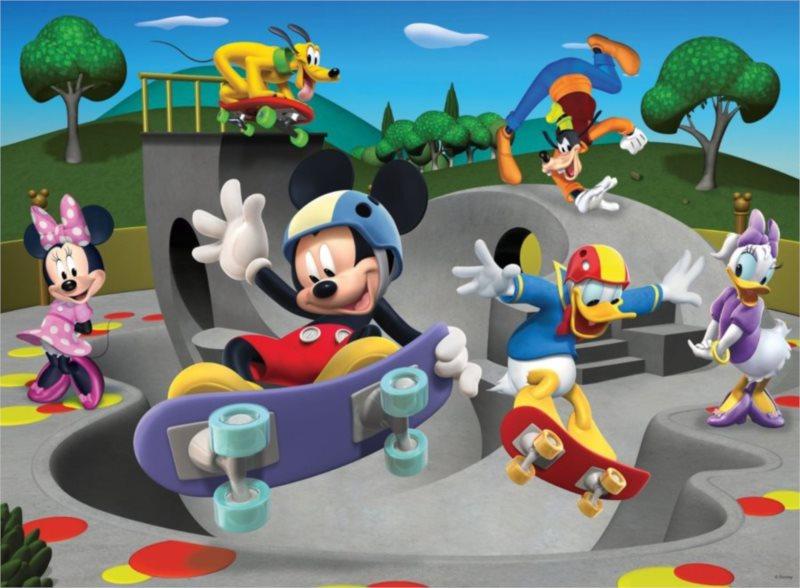 RAVENSBURGER Puzzle Mickey Mouse: Skateboardový klub XXL 100 dílků