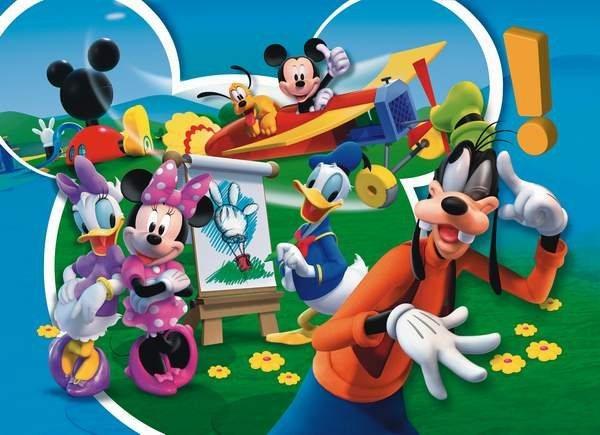 CLEMENTONI Puzzle Mickeyho klubík: Létání 104 dílků