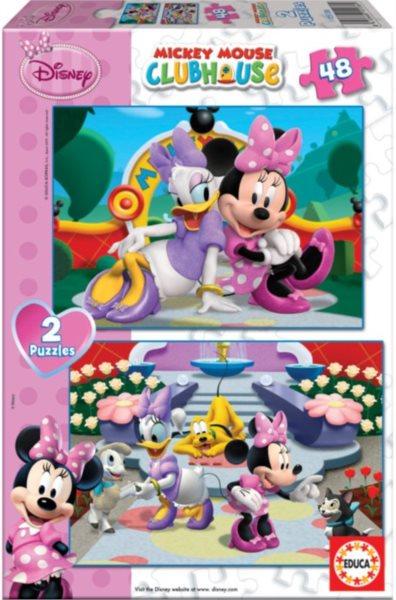 Dětské puzzle EDUCA - Mickeyho klubík - Minnie 2x48 dílků
