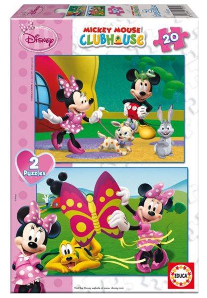 Dětské puzzle EDUCA - Mickeyho klubík: Minnie 2x20 dílků