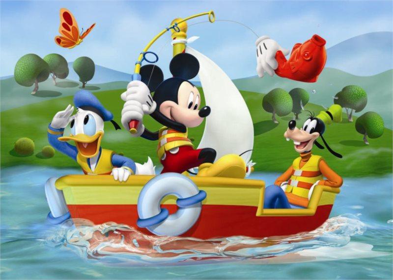 Podlahové puzzle pro děti DINO - Mickeyho klubík: Rybaření - 24 dílků