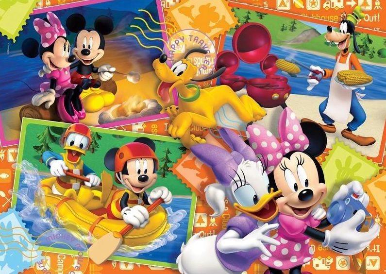 CLEMENTONI Puzzle Mickeyho klubík: Šťastní cestovatelé 60 dílků