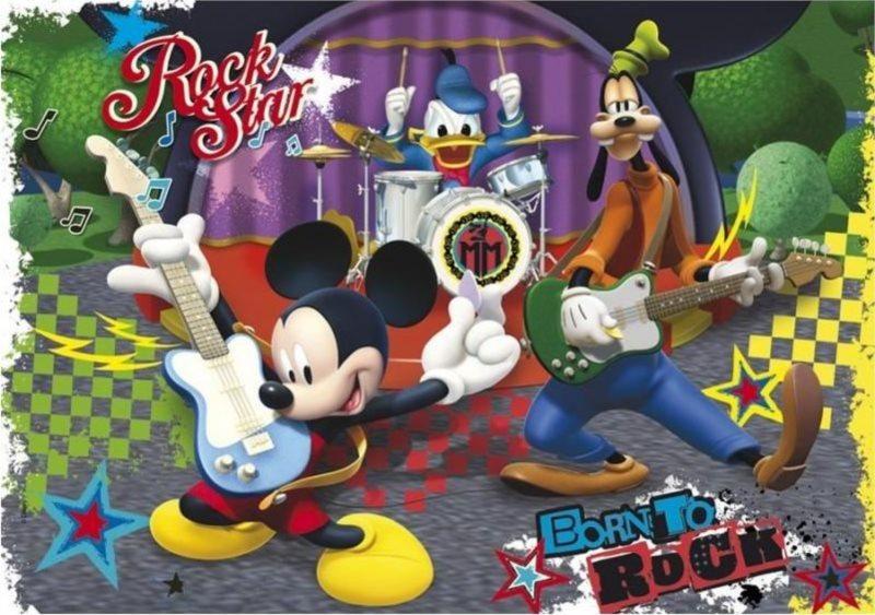 CLEMENTONI Puzzle Mickeyho rockový koncert 60 dílků