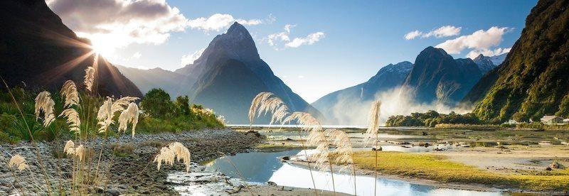 Panoramatické puzzle HEYE 1000 dílků - Milford Sound, Nový Zéland