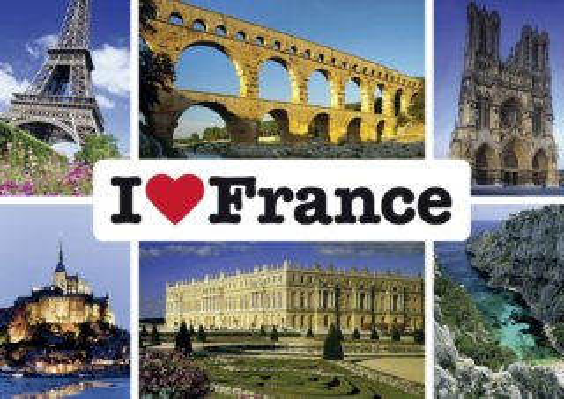 Puzzle SCHMIDT 1000 dílků - Miluji Francii