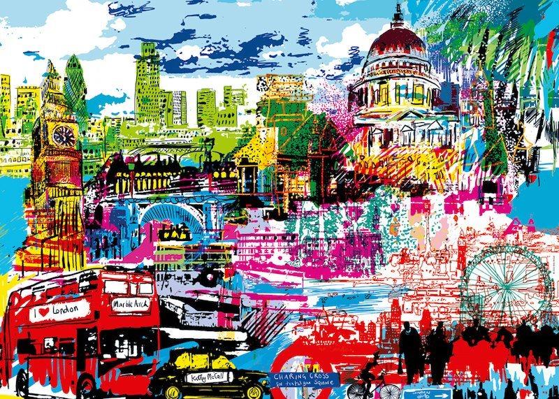Puzzle HEYE 1000 dílků - Miluji Londýn!