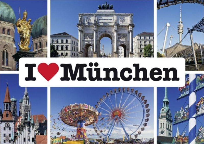 Puzzle SCHMIDT 1000 dílků - Miluji Mnichov