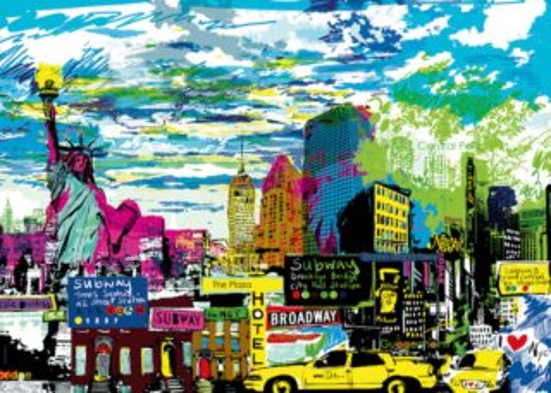 Puzzle HEYE 1000 dílků - Miluji New York!