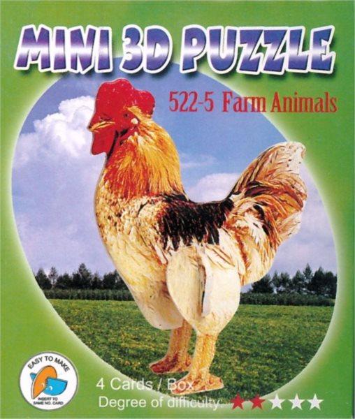 Mini 3D puzzle - Hospodářská zvířata