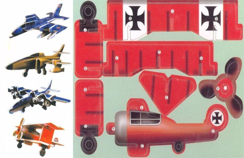 3D puzzle Sada letadel 1