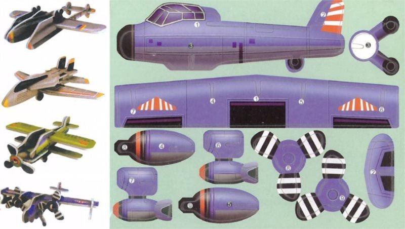3D puzzle Sada letadel 2