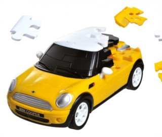 ALBI 3D puzzle Mini Cooper 1:32 žlutý