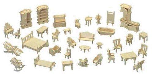 WOODEN TOY , WCK 3D puzzle Mini nábytek