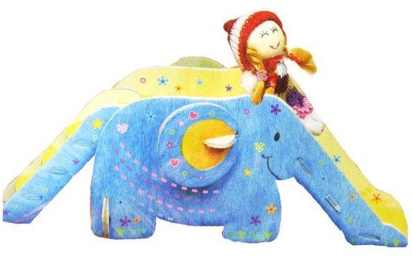 3D dřevěné puzzle Skluzavka s panenkou a barvičkami