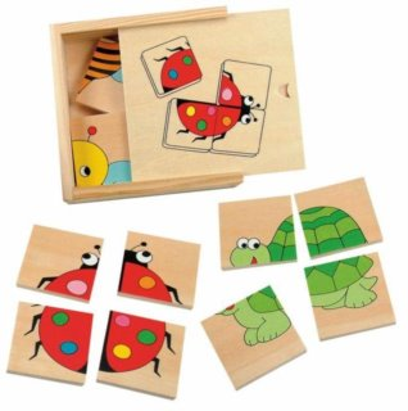 Puzzle WOODY Mini puzzle: Beruška 4x4